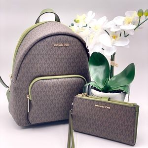 Michael Kors Erin Medium Backpack and Wallet Set